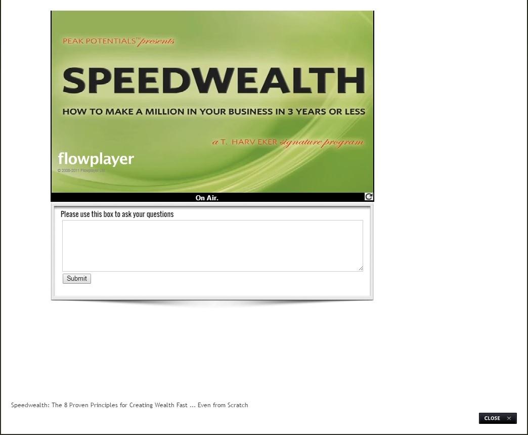 t harv eker speedwealth pdf